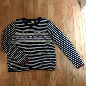 J.Crew Fair Isle Striped Sweater